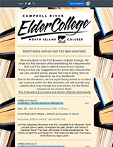 ElderCollege Newsletter Campbell River