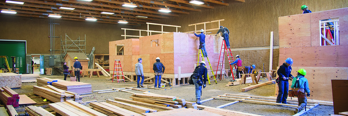 Carpentry students learn in NIC's Trades Training Centre