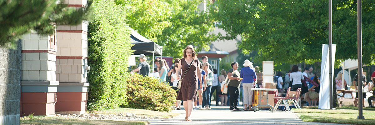Students gather at NIC's Comox Valley campus for Orientation Day