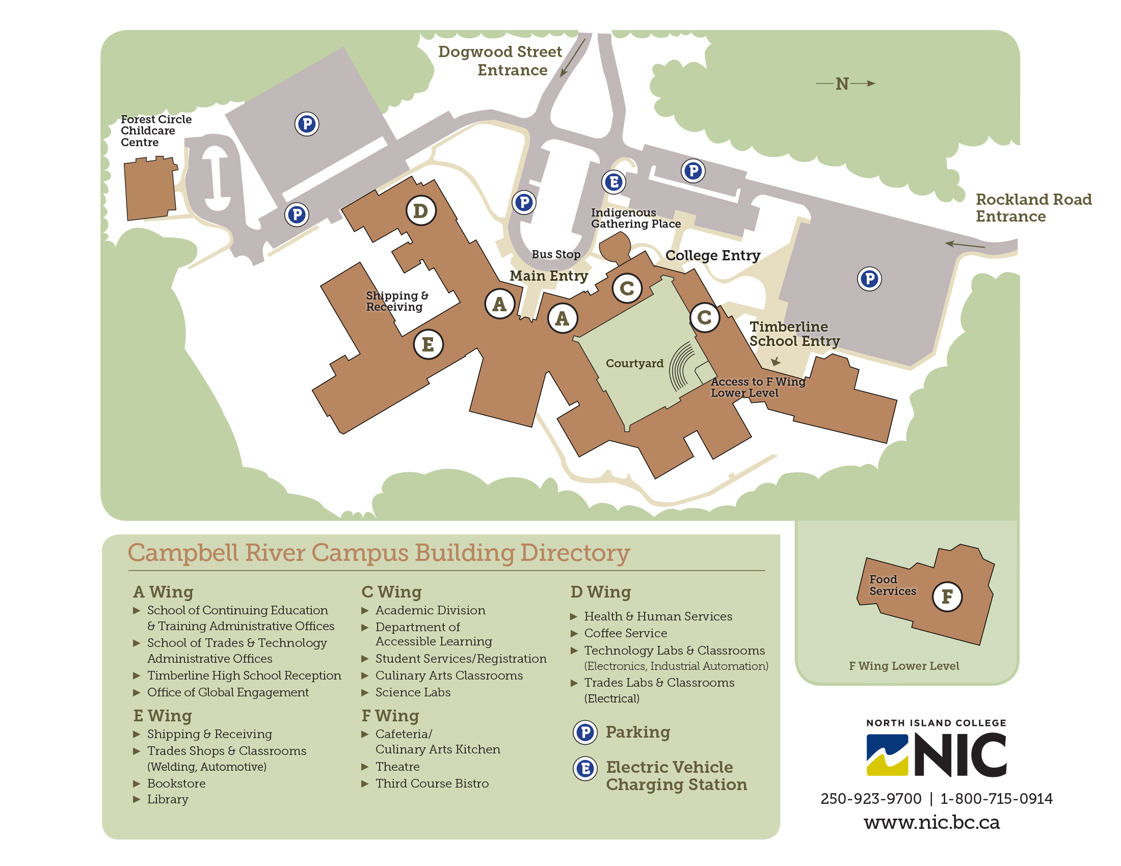 Nic Campus Map | Path Map on mica campus map, dvc college campus map, martin college campus map, north idaho college campus map,