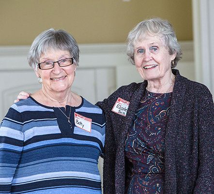 Comox Valley ElderCollege founders Betty Emery and Elizabeth Smith