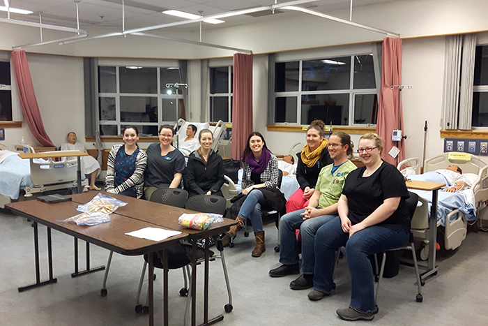 NIC BSN students attend a palliative care interprofessional evening at NIC's CV campus.